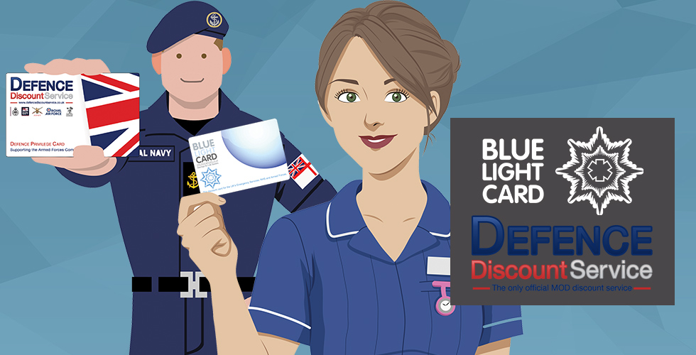 Discounts for Armed forces and emergency service personnel